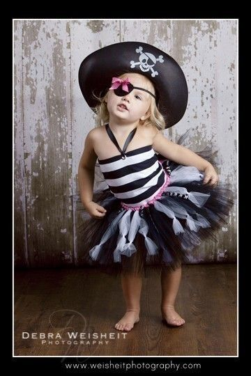 SWASHBUCKLING SWEETHEART Pirate Tutu Set with Reversible Corseted Top, Eyepatch and Hat. $75.00, via Etsy.