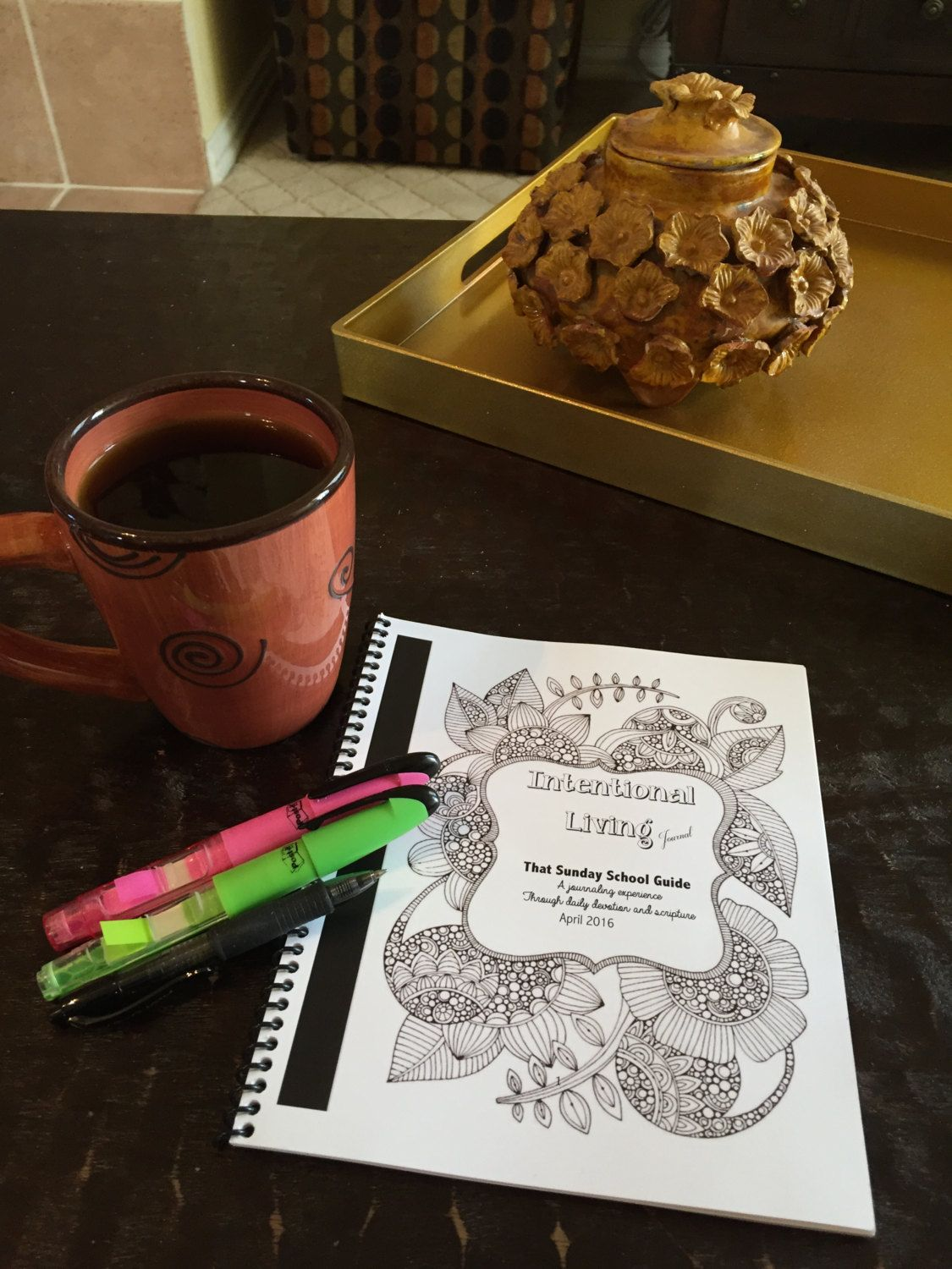 Intentional Living Daily Devotional Journal - APRIL by ThatSundaySchoolGirl on Etsy