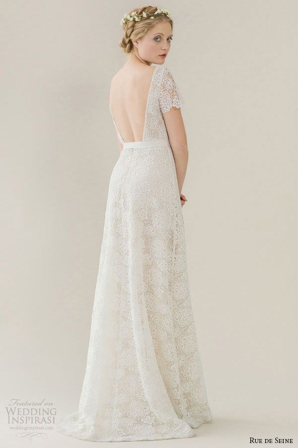 Rue de Seine Wedding Dresses — Young Love Bridal Collection | Wedding Inspirasi | (Back View)