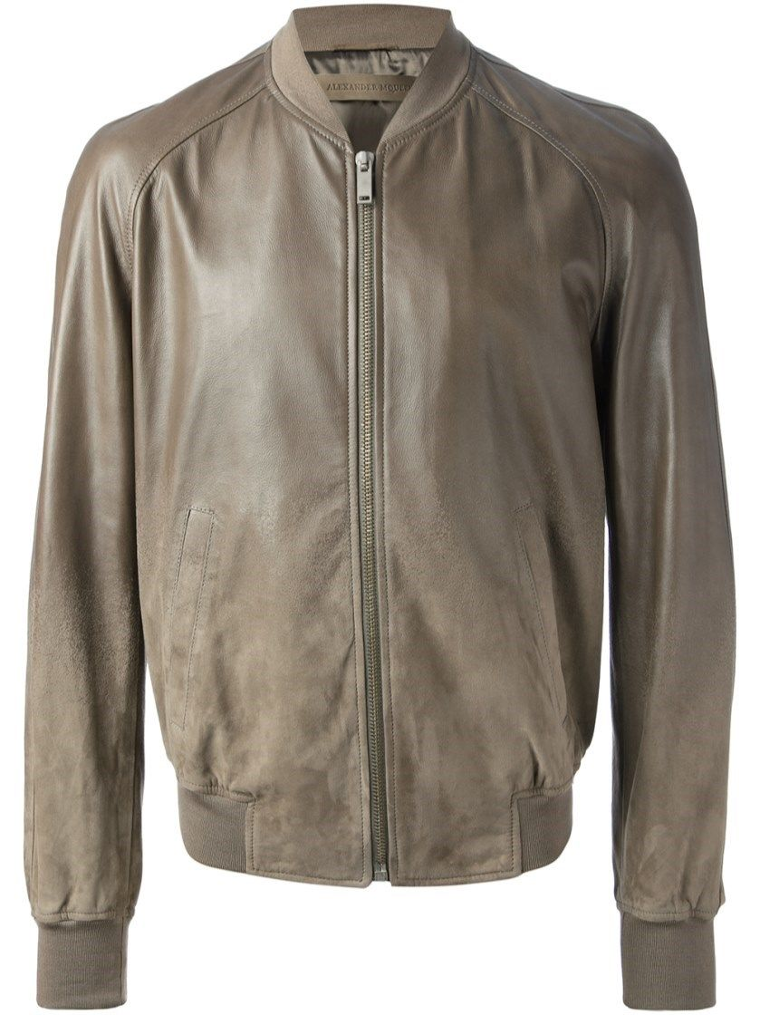 ALEXANDER MCQUEEN Bomber Jacket. #alexandermcqueen #cloth #leather & fur outerwear