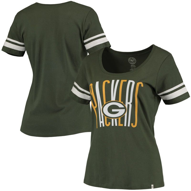 b79a33b1 Green Bay Packers '47 Brand Women's Halfback Scoop T-Shirt - Green ...