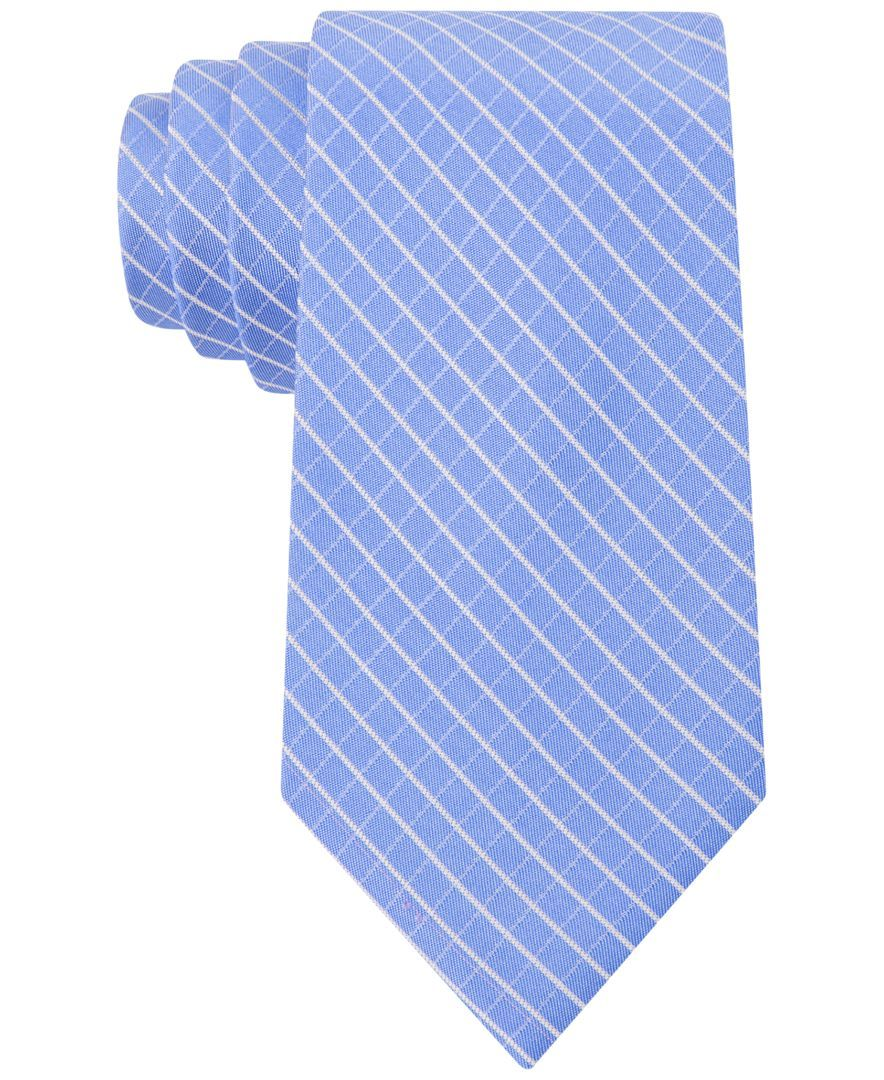 Calvin Klein Creme Windowpane Slim Tie