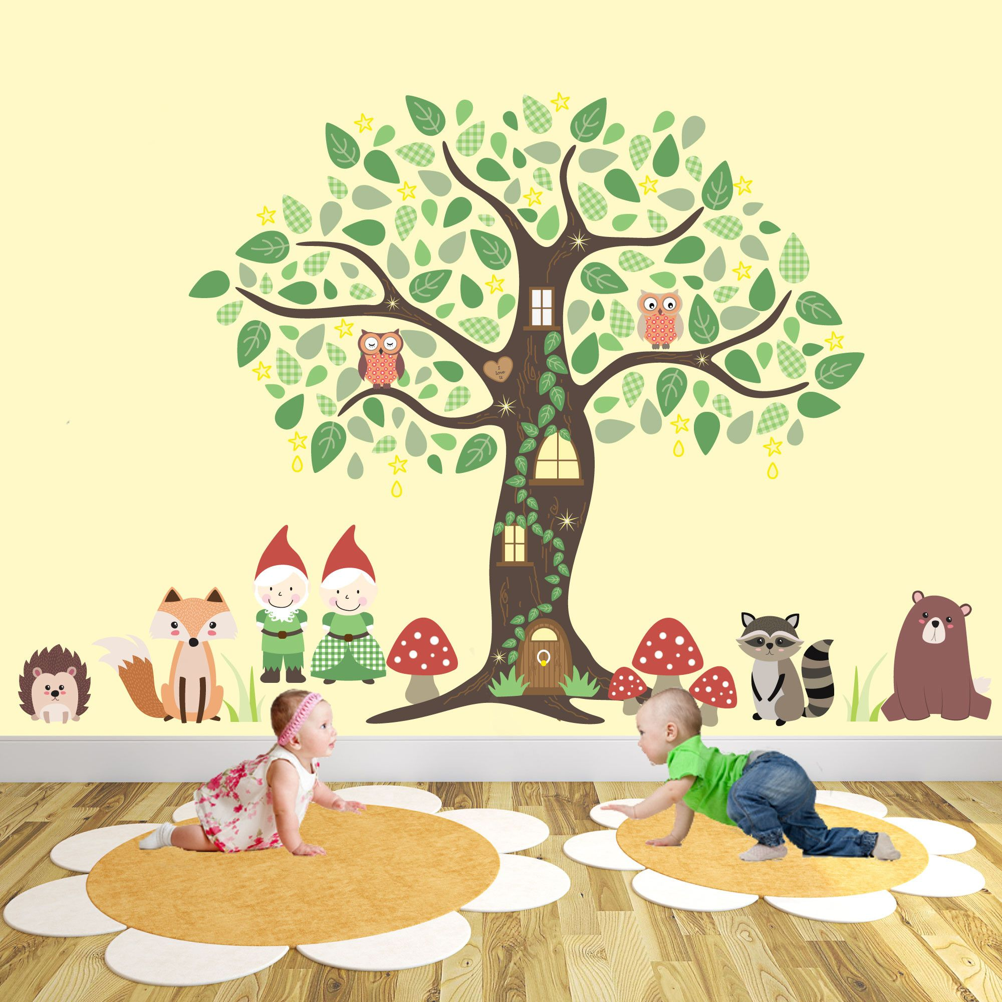 Enchanted Interiors Premium Self Adhesive Fabric Nursery Wall Art ...