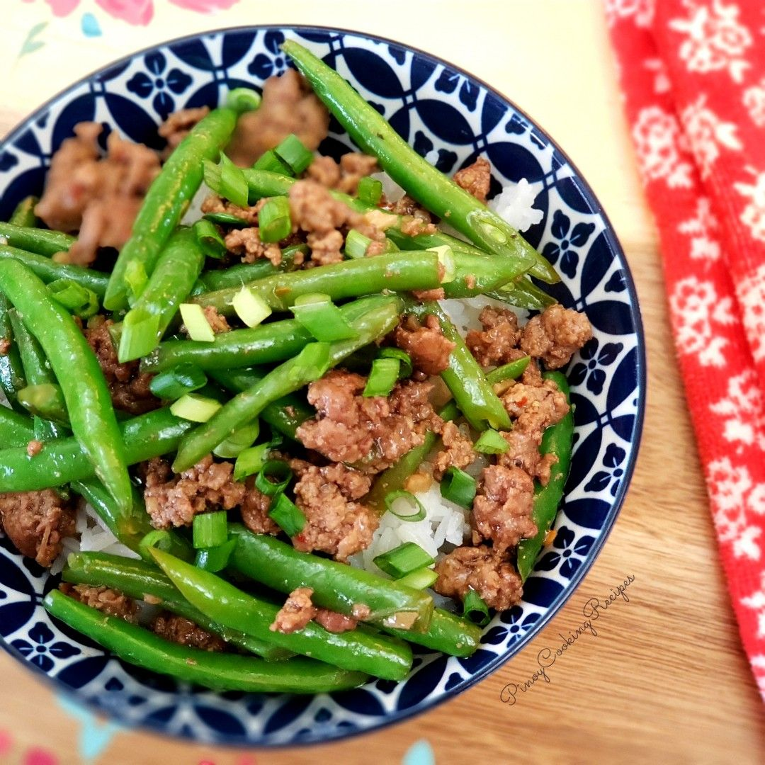 Beef And Green Beans Stir Fry Pinoycookingrecipes In 2020 Green Beans Stir Fry Green Beans Yummy Dinners