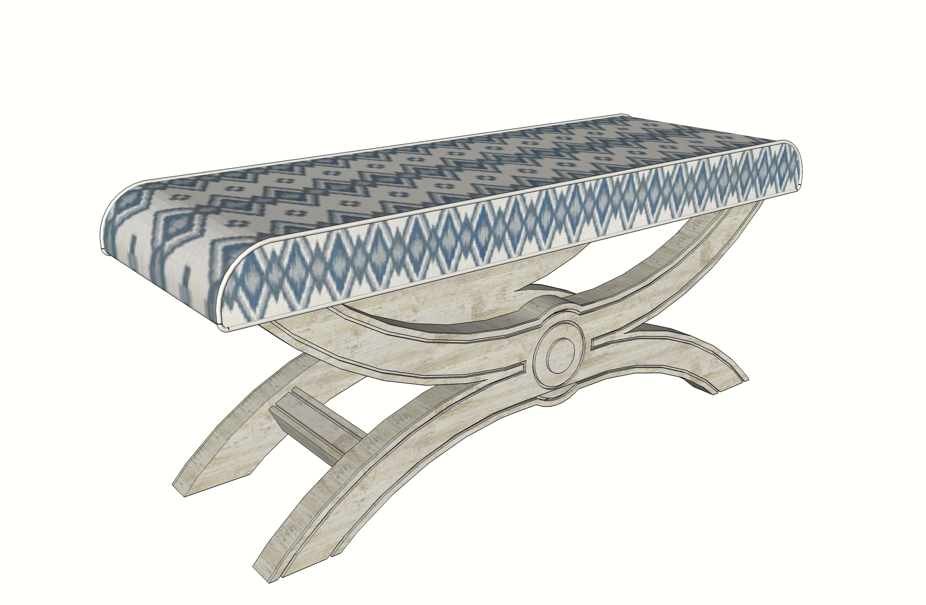 Detalle diseño boceto para banco pie de cama por Sube interiorismo ...