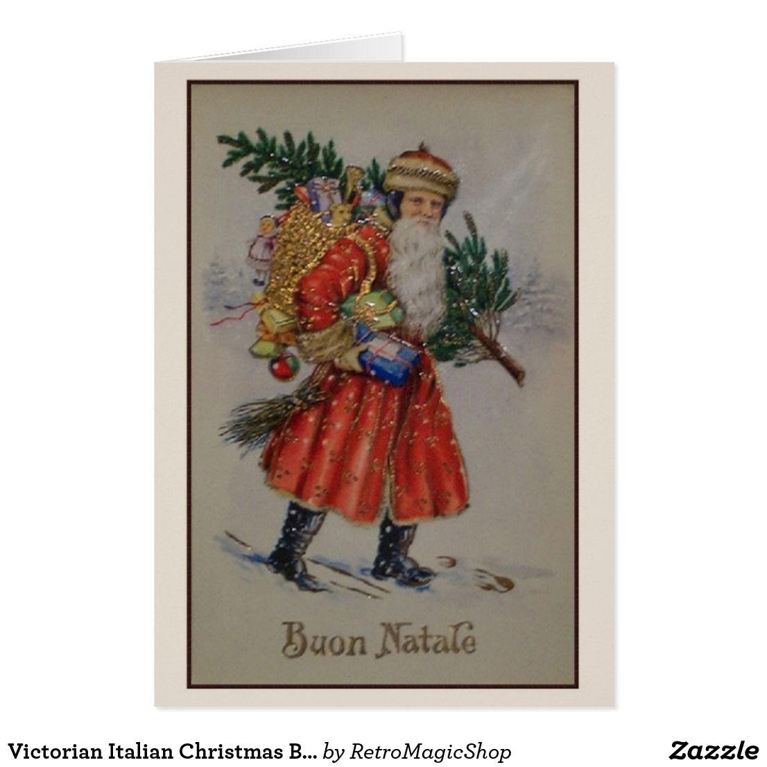 Victorian italian christmas buon natale card custom christmas victorian italian christmas buon natale card kristyandbryce Images
