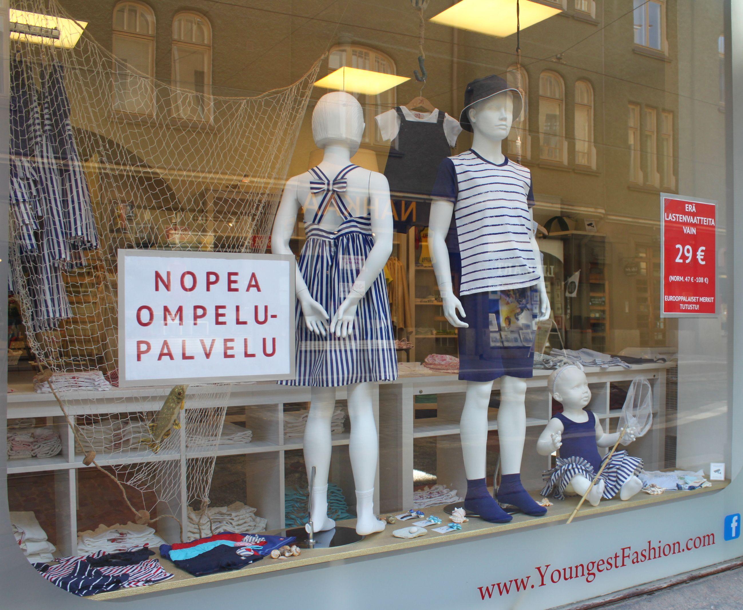 Olemme käynnistäneet alennusmyynnin. Laadukkaita lastenvaatteita jopa -30% Löytörekistä 29,- Myös verkkokaupassamme! http://www.youngestfashion.com/fi/prices-drop TERVETULOA!
