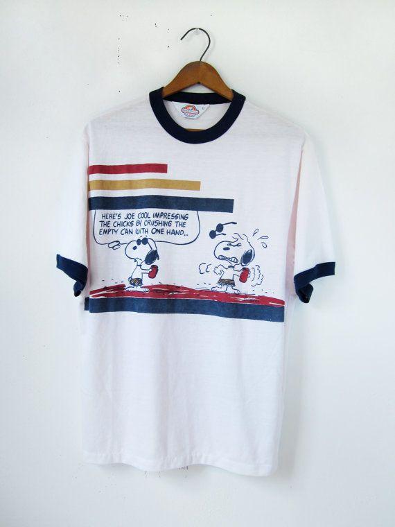 vintage snoopy tshirt joe cool peanuts vintage tees