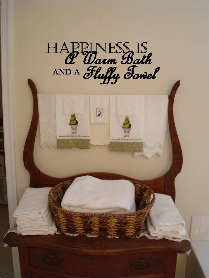 Image Detail For Happiness IsVinyl Wall Quotes In The - Custom vinyl wall decals sayings for bathroom