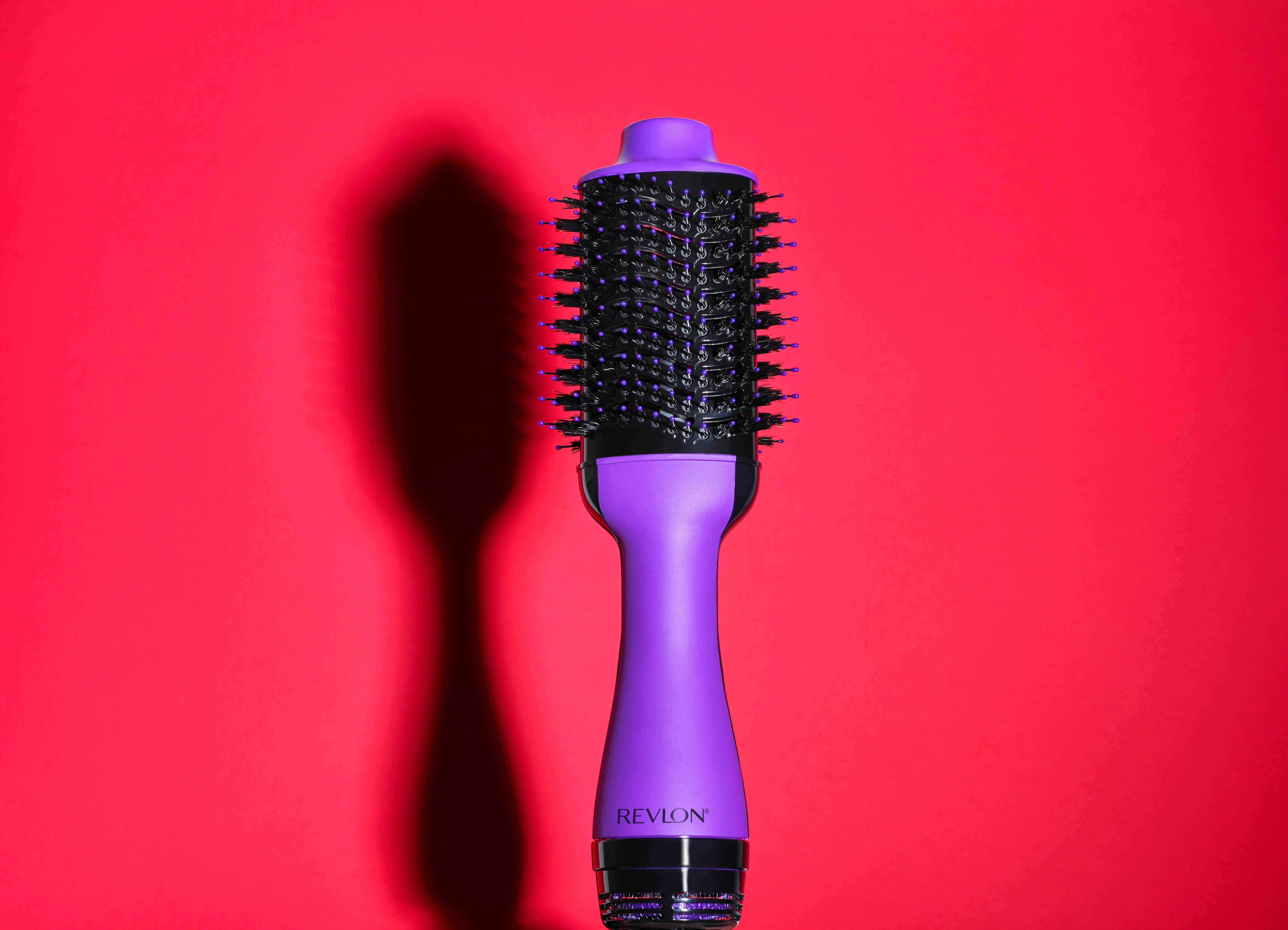 Revlon One Step Hair Dryer Volumizer Hot Air Brush Purple Blow Dryer Walmart Com Purple Blow Dryer Revlon Bob Hairstyles
