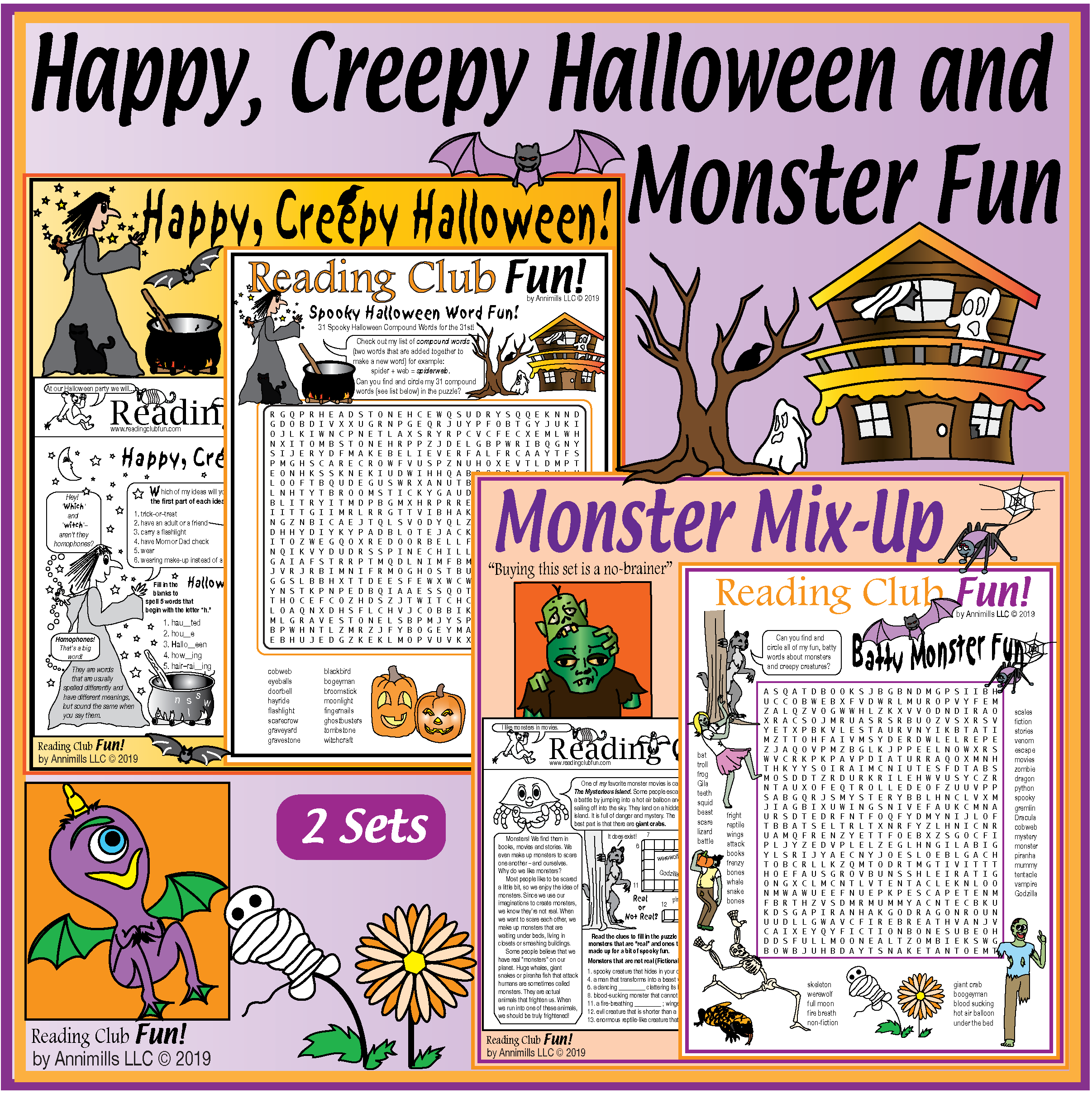 Halloween Puzzle Sets Crosswords Word Searches Mazes