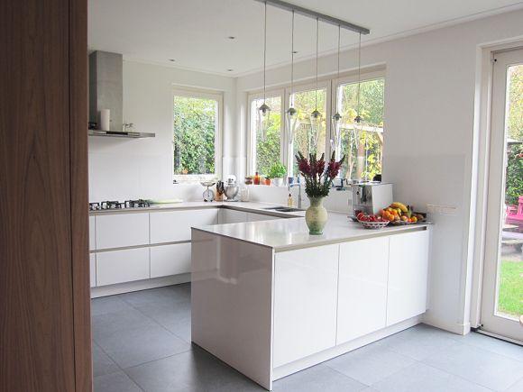 Edmon Keukens Ontwerpen : Schiereiland woonkamer keuken keuken ideeën keuken uitbouwen