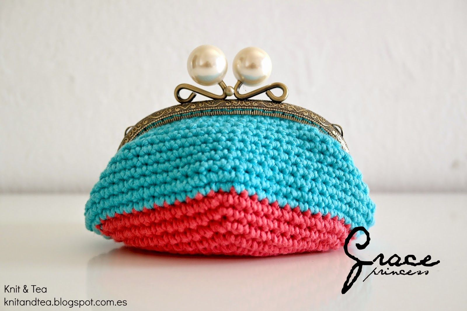Knit & Tea: MONEDERO DE CROCHET CON BOQUILLA OVALADA | weareknitters ...