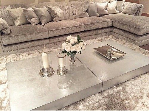 Grey And Chrome Silver Living Room Theme