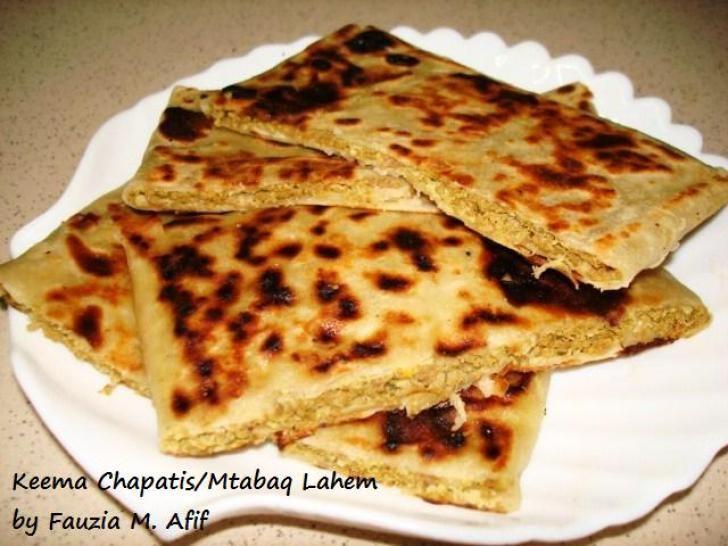 Mtabaq lahemkeema chapatis kitchens arabic food and rotis forumfinder Choice Image