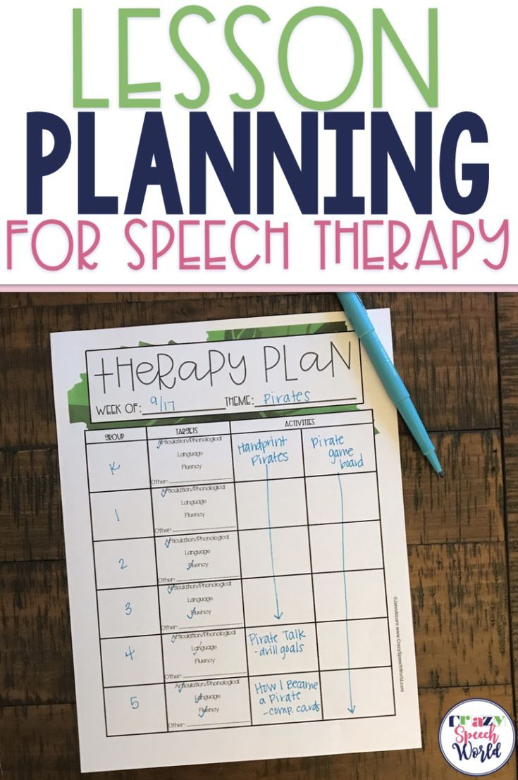 Lesson Plans for Speech Therapy + Free Planning Sheet