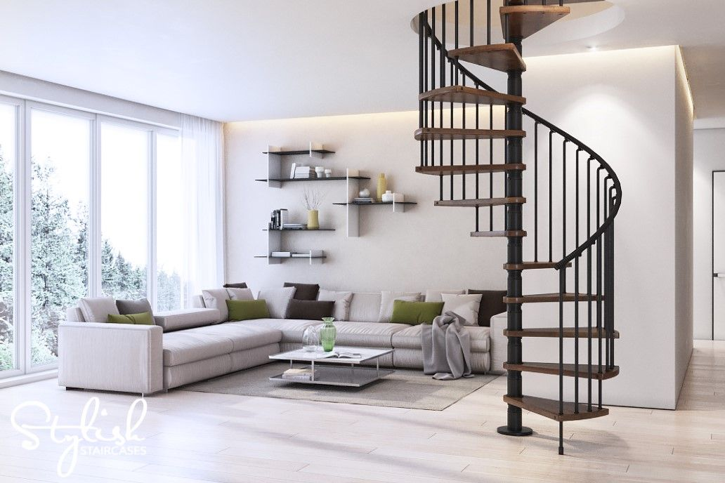 Best The Gamia Wood Spiral Staircase Will Add A Touch Of Style 400 x 300