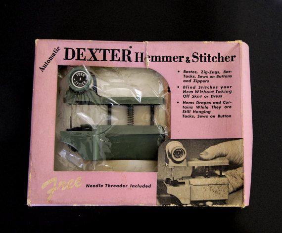 Vintage Dexter Hemmer And Stitcher Handheld Sewing By LuckyPecky Unique Dexter Hand Held Sewing Machine