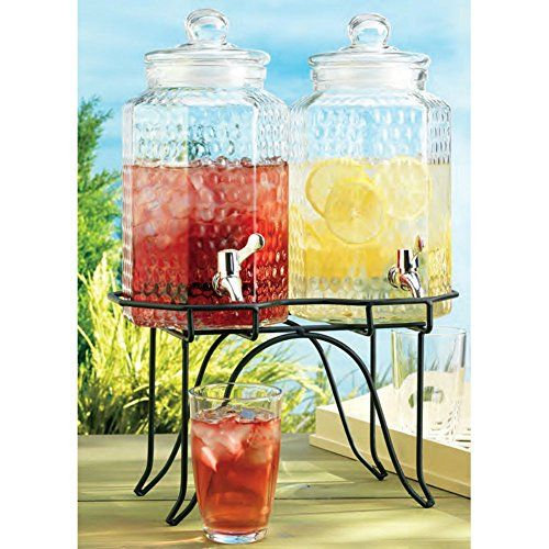 Home Essentials 1842 Del Sol Hammered Jug Beverage Dispenser With Rack, Set Of 2 Home Essentials http://www.amazon.com/dp/B003LTF7U0/ref=cm_sw_r_pi_dp_Ge3Nub14XRG55