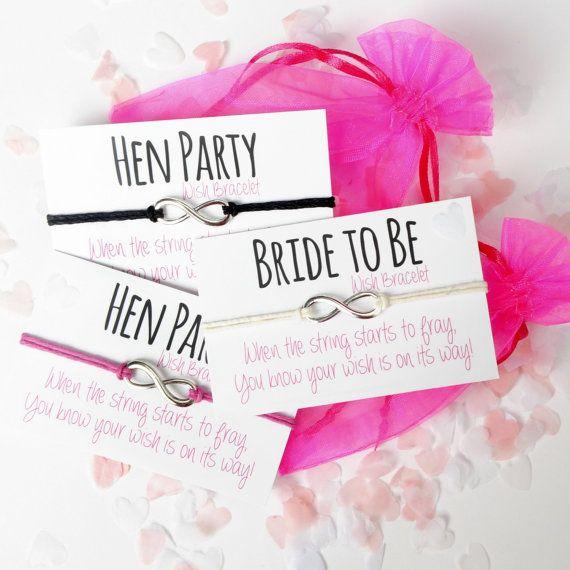 Personalised Classy Hen Do Favour Party Bag Filler Bachelorette Gift Bracelet