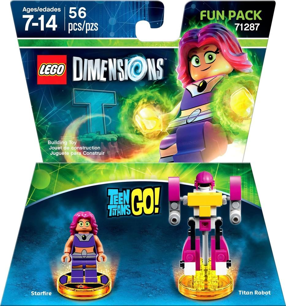 Lego Dimensions - Teen Titans Go Fun Pack Starfire And -3225
