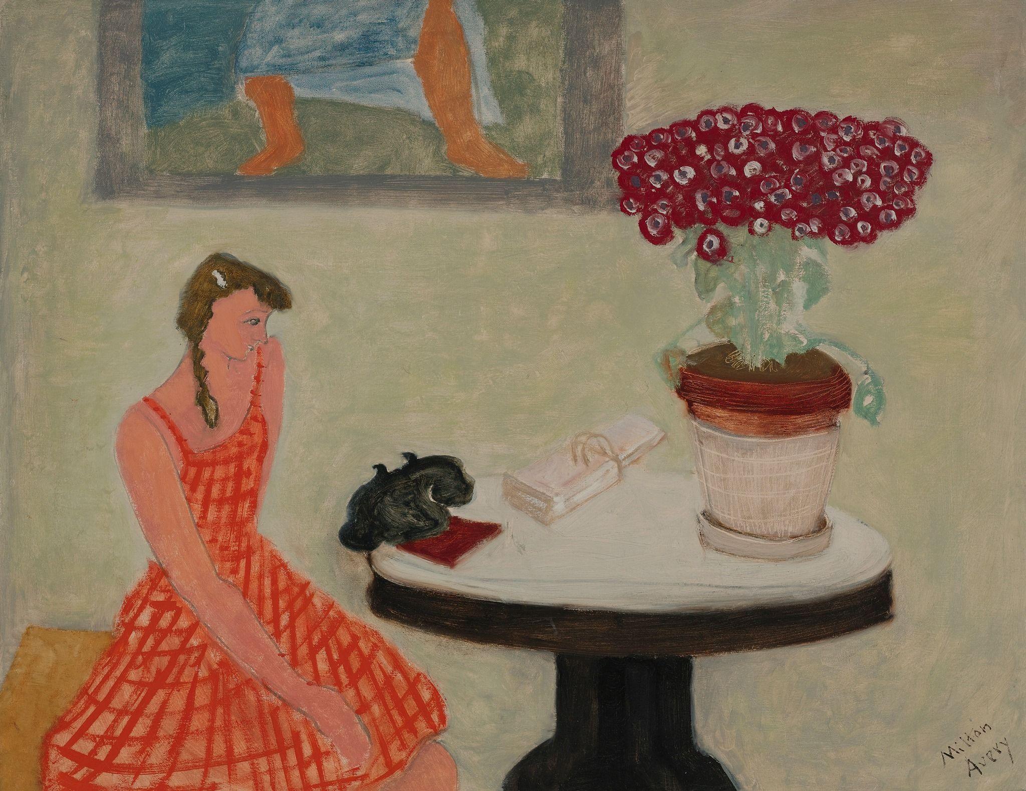 Milton Avery (1885 - 1965) Girl with Telephone, ca 1943