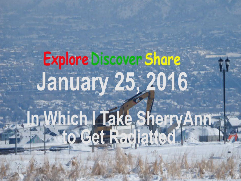 Jan. 25 2016 - In Which I Take SherryAnn to get Radiated #77 Took SherryAnn for her radiation therapy and did some timelapses.    My daily (sort of) vlog - https://www.youtube.com/channel/UCDE8Q9afsBNst8QDPylD-Xw Vlog this Food food vlog - https://www.youtube.com/channel/UCdPbHkX4xkQhRHzgQK6jWug Snapchat - explorediscover http://ift.tt/1PHsKI2 Instagram - http://ift.tt/1HR51yE Tumblr - http://ift.tt/1PHsIQl Facebook - http://ift.tt/1YaV48I Twitter - https://twitter.com/tigertyger Flickr…