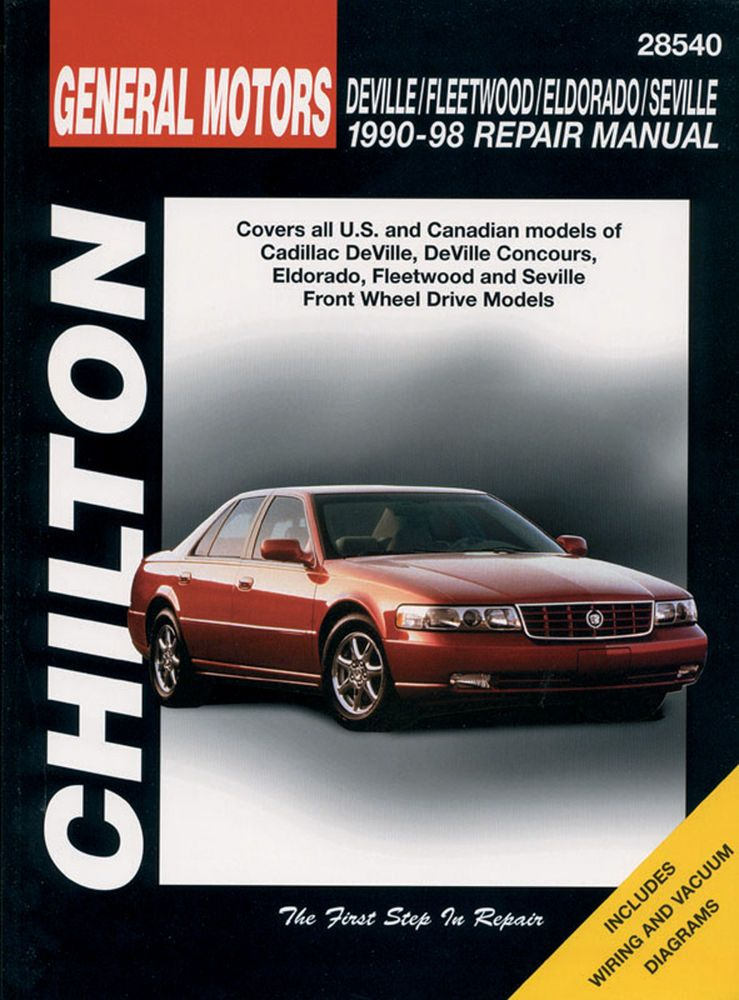 Chilton Repair Manual Deville Fleetwood Eldorado Seville 1990 98 28540 Chilton Repair Manuals Chilton Totaled Car