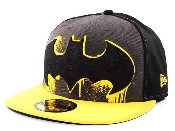 Batman graffiti style logo New Era fitted hat  fe401beb8ef