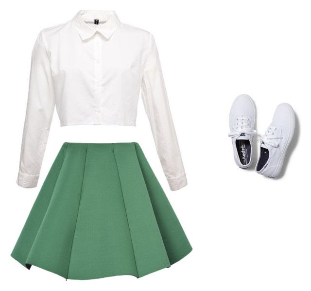 """Sem título #285"" by sra-sabedot ❤ liked on Polyvore featuring Structured Green, Keds, women's clothing, women, female, woman, misses and juniors"