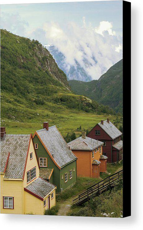 Scandinavian Village. Canvas Print / Canvas Art by Anna Matveeva