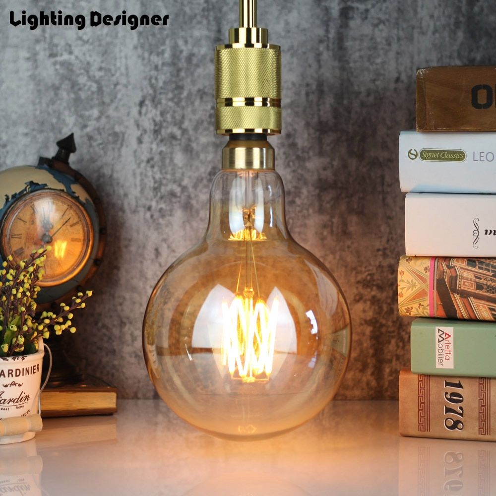 Big Size G150 Vintage Led Lamp Edison Bulb Soft Led Filament Decor Bulb 8w 220v Light Bulb Warmth Glow Replace Incand Light Bulb Incandescent Bulbs Edison Bulb