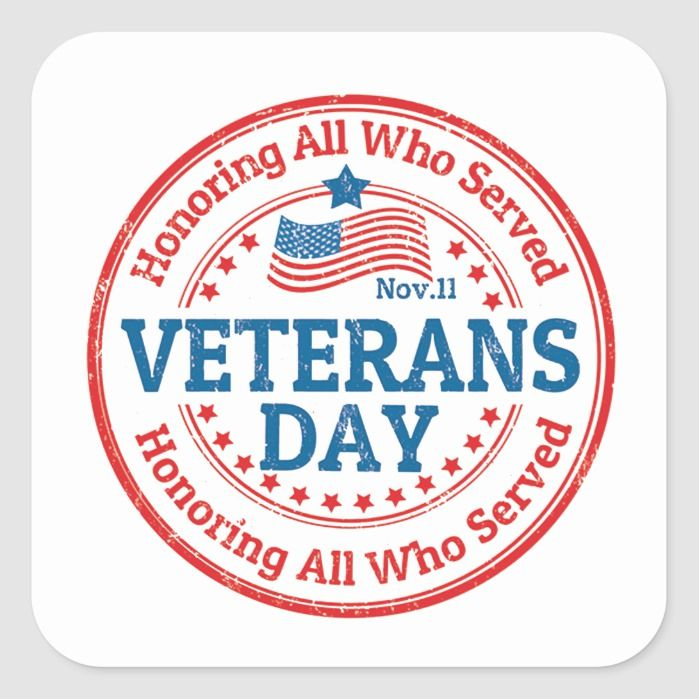 Their Day Veterans Day Stickers | Zazzle.com