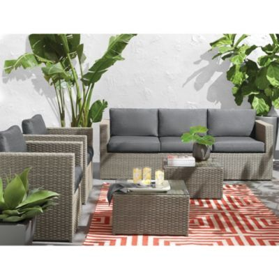 WholeHome®/MD U0027New Yorku0027 5 Piece Deep Seating Conversation Patio Set