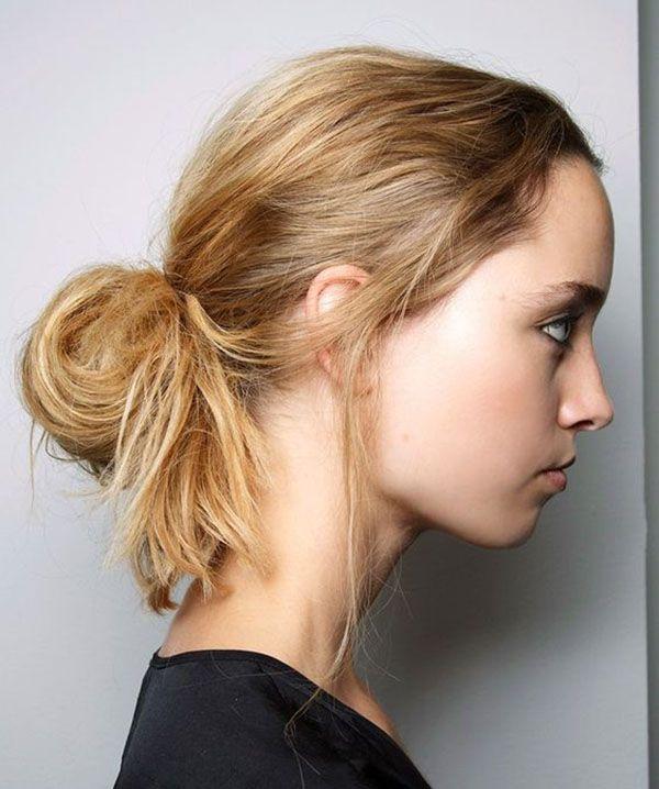 Прическа пучок: варианты на средние и длинные волосы (фото ...