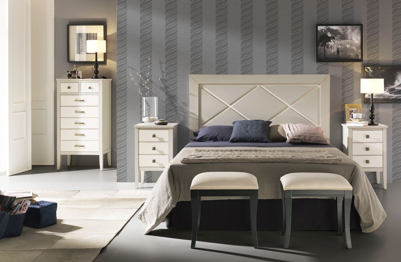 Muebles De Dormitorio De Matrimonio En Madera Maciza Con Cabecero  # Muebles Necesarios En Un Dormitorio