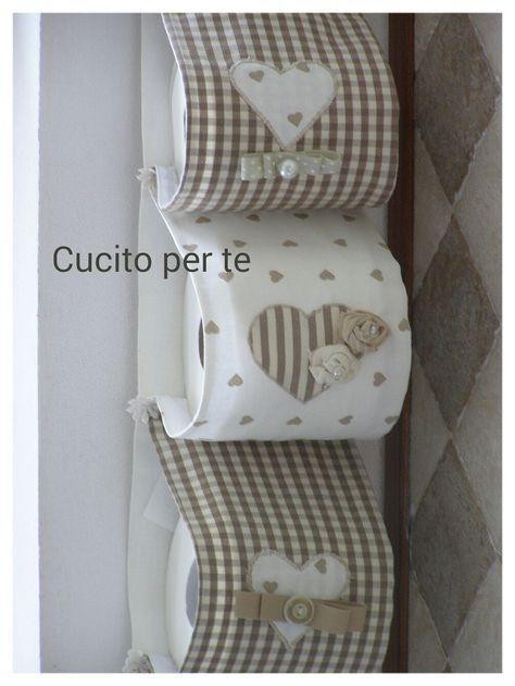 Portarotoli shabby e romantico portarotolida bagno idee per cucito carta igienica e porta carte - Cucito creativo bagno ...