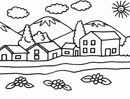 Paisajes Naturales Para Colorear Dibujos Para Pintar Paisajes