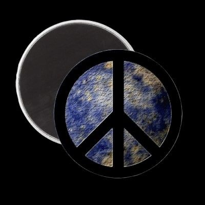Peace Magnet on Earth Marble design ~  Official product of http://zazzle.com/blogblast4peace* $2.95