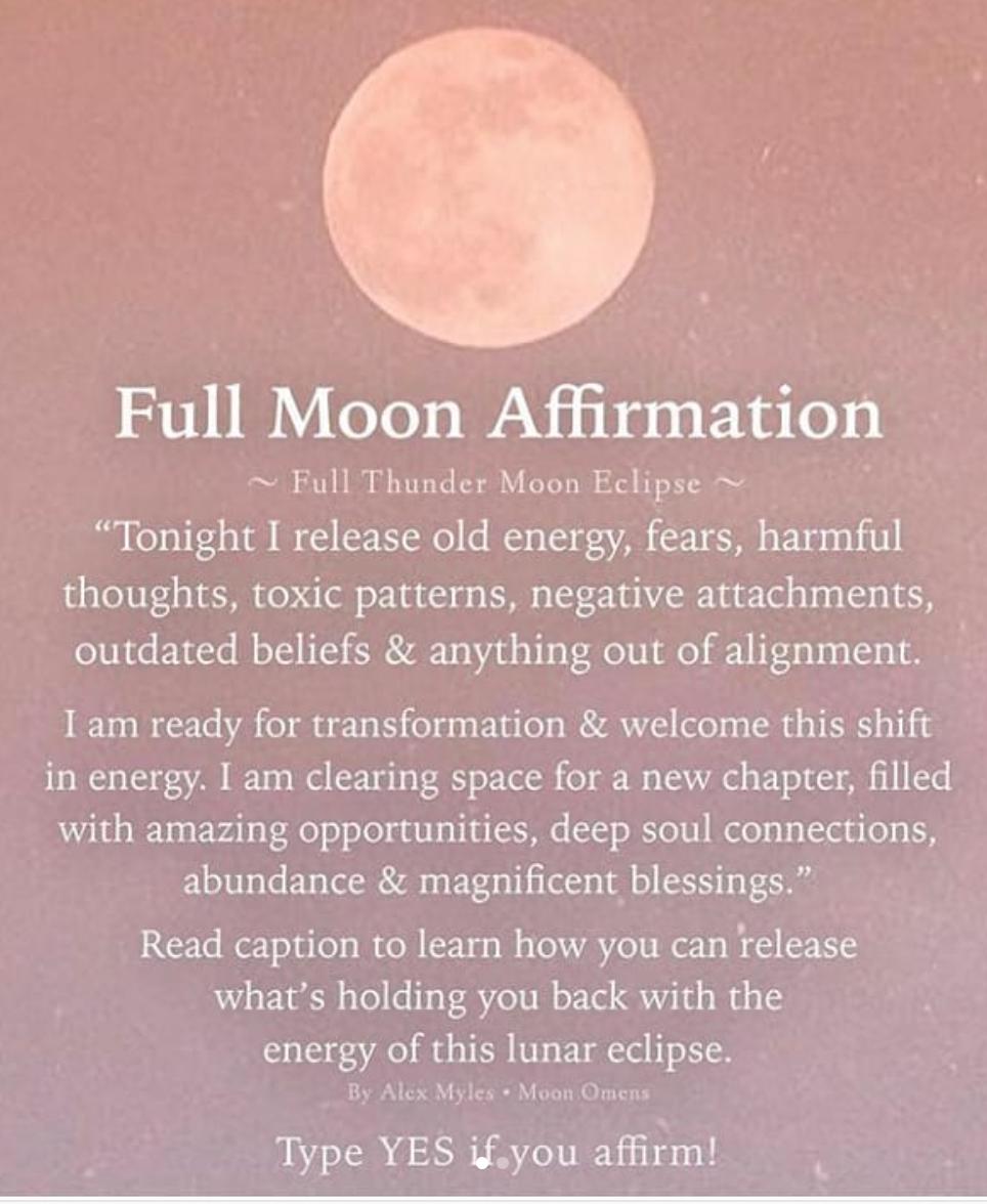 full moon ritual / moon affirmations