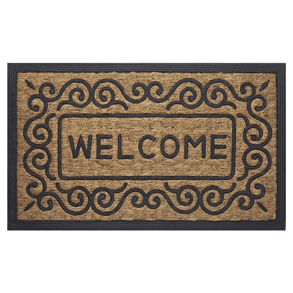 Entrance Door Mat Floor Rug Front Doormat Outdoor Rubber