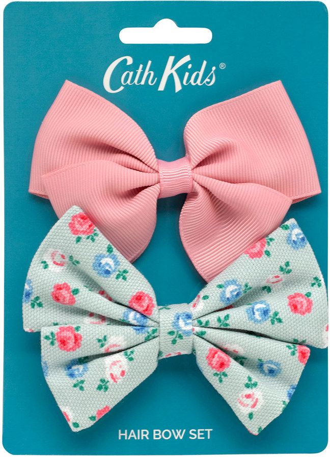 Lucky Rose Kids 2 Pack Hair Bows Pretty Floral Bows From