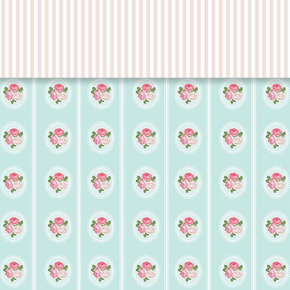 Shabby Chic Digital Paper Rose Garden background Floral Paper Patterns is part of Rose garden Background - commerciallicensenocreditrequiredfor ref listingshopheader2Thank you for visiting my shop !