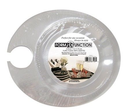 Form u0026 Function Clear Plastic 7 Inch Appetizer Plate  sc 1 st  Pinterest & Form u0026 Function Clear Plastic 7 Inch Appetizer Plate | Party ...