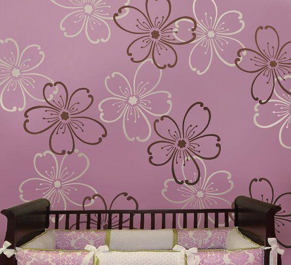 Stencils Flower Power 2 pc LG - Reusable stencils better than ...