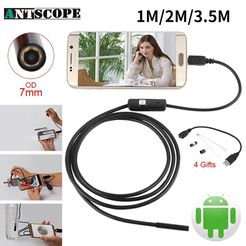 937ff21f6de acquistare Endoskop 7mm 1 M 2 M 3.5 M USB Android Fotocamera Endoscopio  Ispezione Macchina Fotografica Del Telefono IP67 OTG USB Endoscoop  Periscopio della ...