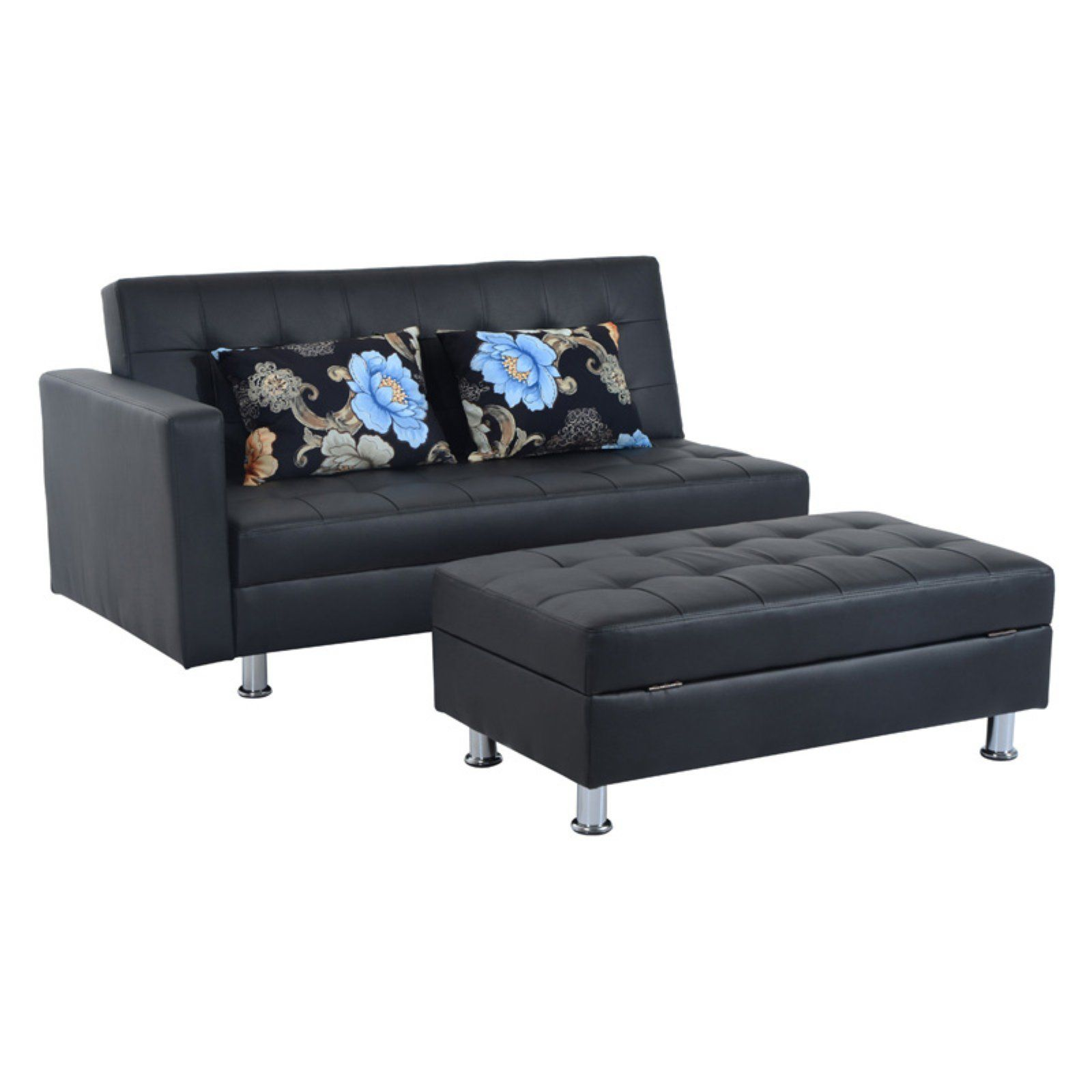 Miraculous Homcom Faux Leather Convertible Sofa Sleeper Bed With Camellatalisay Diy Chair Ideas Camellatalisaycom