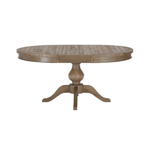 Slater Mill Round To Oval Dining Table Wood/Reclaimed Pine   Jofran Inc.
