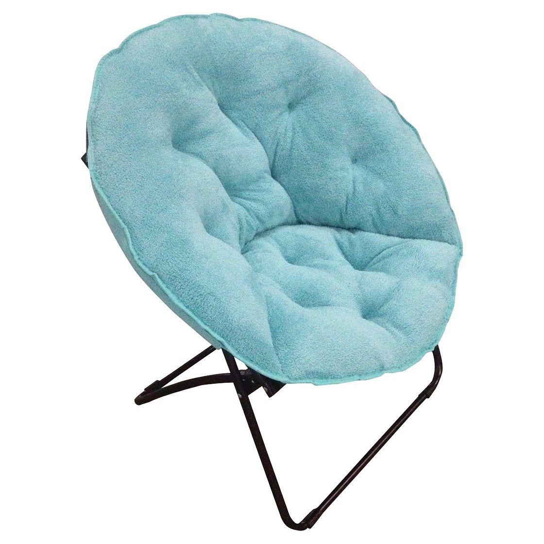 Room Essentials Fuzzy Dish Chair Aisle D16 Blue Or Grey