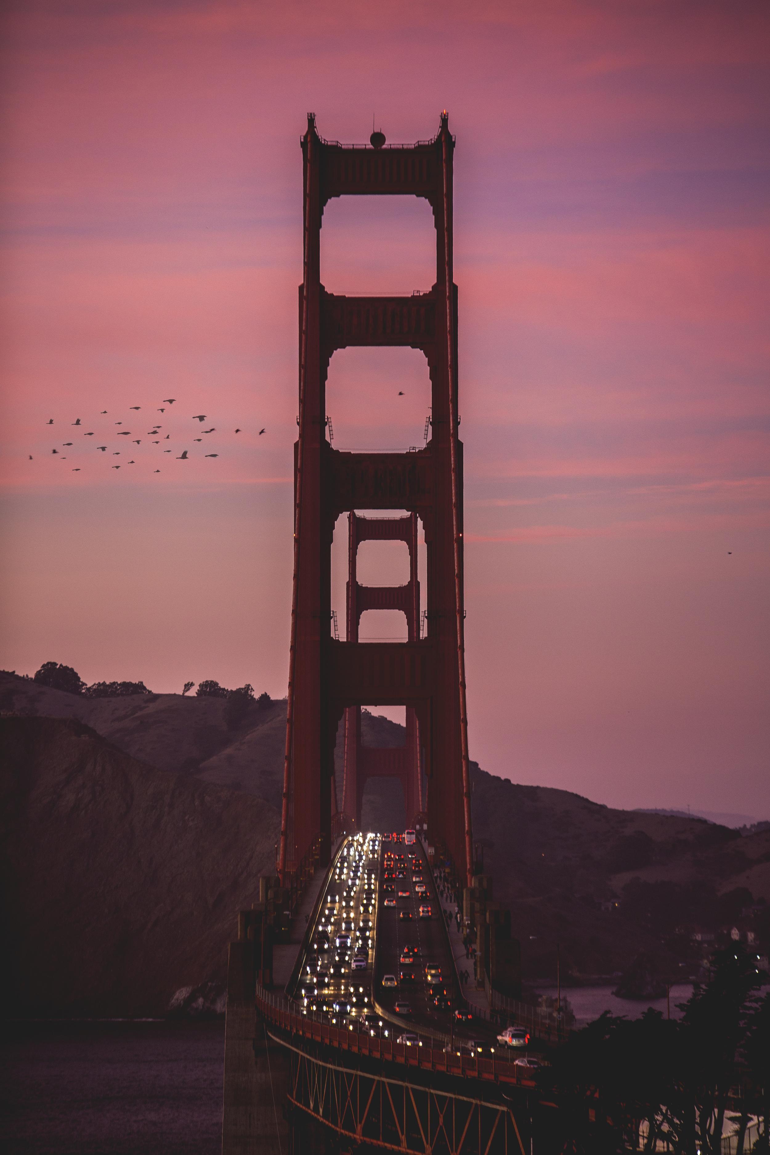 Golden Gate Under A Fire Sunset Bridge Wallpaper City Pictures Wallpaper Ig